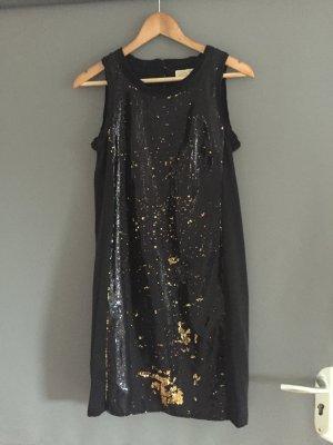Michael Kors Paillettenkleid Schwarz /Gold