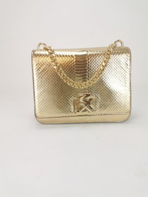 Michael Kors pale gold Messenger