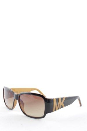 Michael Kors Gafas panto color oro-marrón oscuro look casual