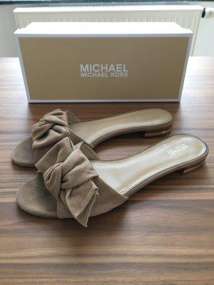 Michael Kors Ciabatta marrone-grigio Scamosciato