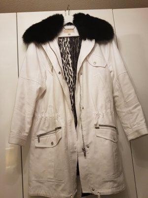 Michael Kors Parka mit Pelz weiß Winterjacke
