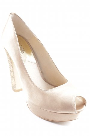 Michael Kors Peeptoe Pumps beige Glanz-Optik