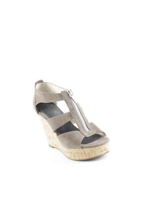 Michael Kors Platform High-Heeled Sandal ocher-beige casual look