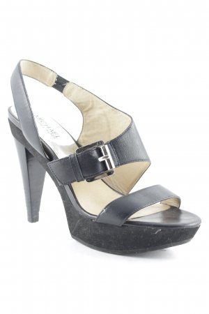 Michael Kors Platform High-Heeled Sandal black-silver-colored elegant