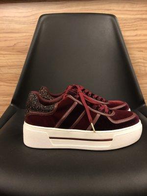 Michael Kors Plateu Sneaker Burgundy