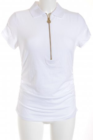 Michael Kors Polo-Shirt weiß-goldfarben Casual-Look