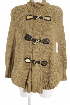 Michael Kors Poncho sand brown weave pattern elegant
