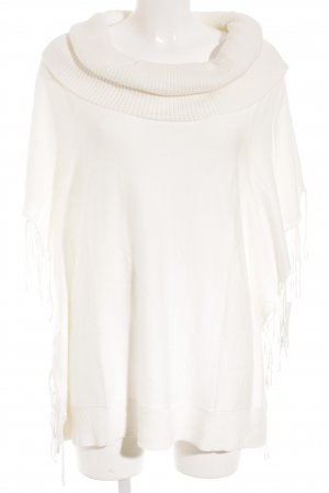 Michael Kors Poncho blanco puro look casual