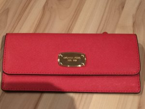 Michael Kors Wallet gold-colored-neon pink