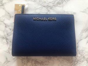 Michael Kors Portemonnaie Geldbörse Wallet Jet Set Travel Leder Blau NEU OVP