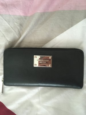 Michael Kors Wallet black-silver-colored leather