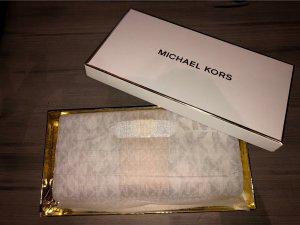 Michael Kors Portemonnee wolwit-goud
