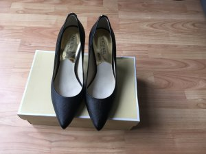 Michael Kors Pointed Toe Pumps black-gold-colored