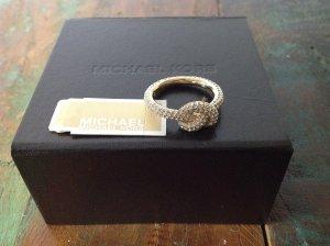 Michael Kors Anillo de plata amarillo oscuro-gris claro plata verdadero