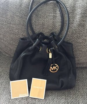 Michael Kors Ring Tote MD EW Black Leather