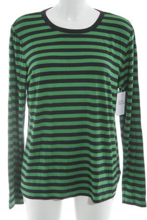Michael Kors Camisa de rayas verde-negro rayas horizontales look casual