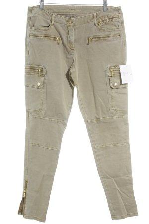 Michael Kors Drainpipe Trousers beige-gold-colored minimalist style