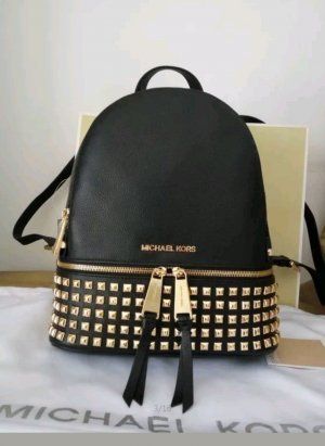 Michael Kors Backpack black-gold-colored