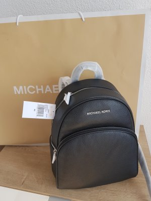 Michael Kors School Backpack black-gold-colored leather