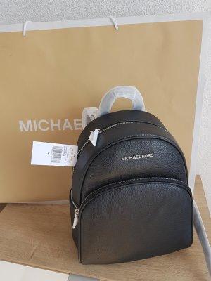 Michael Kors Rucksack Abbey Backpack schwarz silber NEU Leder