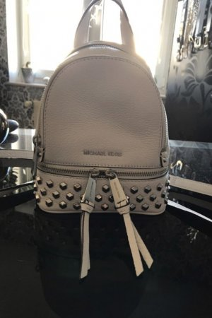 Michael Kors School Backpack white leather