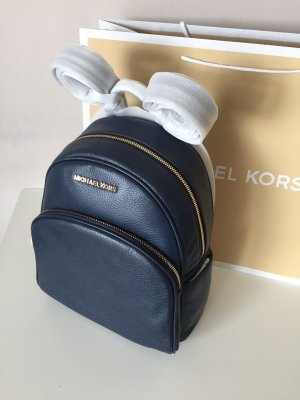Michael Kors Rucksack neu blau Navy Abbey Backpack Leder