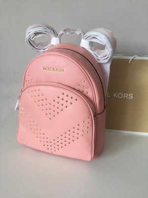 Michael Kors Rucksack neu Pale Pink Rosa Abbey Backpack Leder