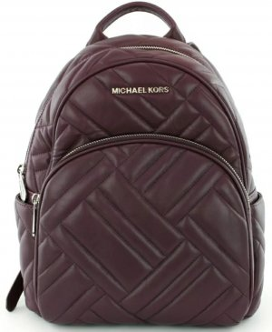 Michael Kors Laptop Backpack brown red leather