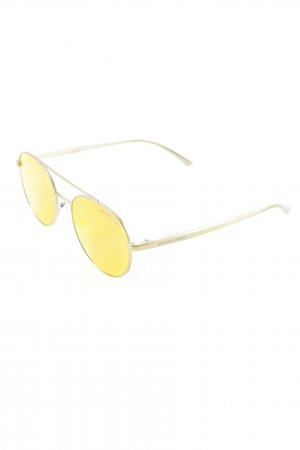Michael Kors runde Sonnenbrille dunkelorange-goldfarben Casual-Look