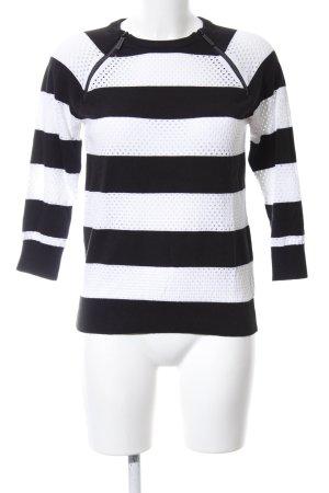 Michael Kors Rundhalspullover schwarz-weiß grafisches Muster Business-Look