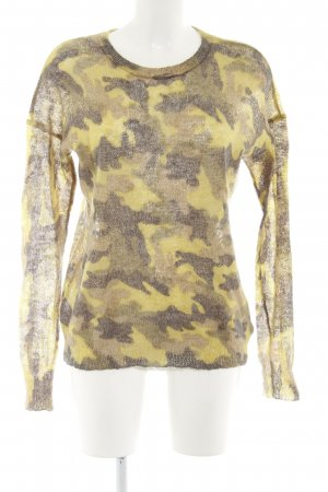Michael Kors Rundhalspullover Camouflagemuster Casual-Look