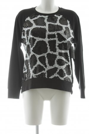 Michael Kors Rundhalspullover schwarz-weiß abstraktes Muster Casual-Look
