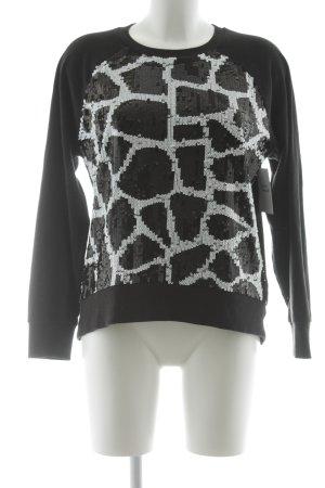 Michael Kors Kraagloze sweater zwart-wit abstract patroon casual uitstraling