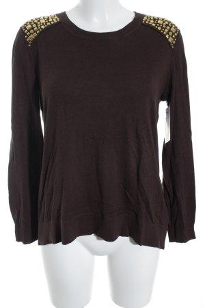 Michael Kors Crewneck Sweater black brown-gold-colored casual look