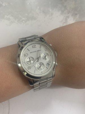 Michael Kors Runway Damen Uhr Silber Weiß MK 5076
