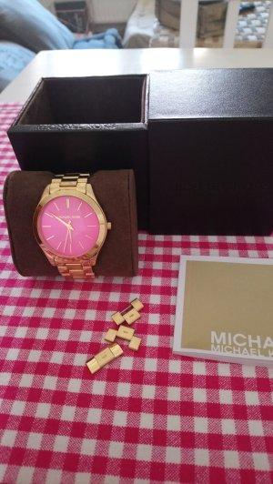 Michael Kors runway Uhr, pink/Gold, MK3264