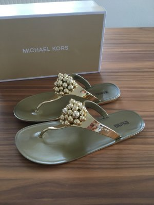 "Michael Kors - Sandale ""Kirby"" in Metallic-Optik"