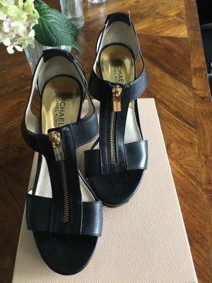 Michael Kors Platform Sandals black leather