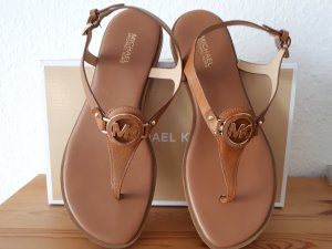 Michael Kors Toe-Post sandals brown-gold-colored leather