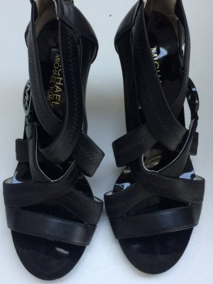 Michael Kors High-Heeled Sandals black leather