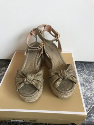 Michael Kors Platform High-Heeled Sandal gold-colored-sand brown