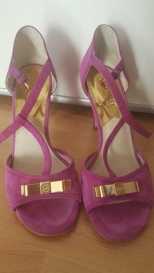 Michael Kors Sandaletten Sandalen High Heels, 38, lila, 1 x getragen