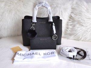 Michael Kors Bolso negro-color plata