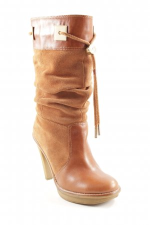 Michael Kors Jackboots cognac-coloured country style