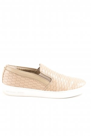 Michael Kors Slip-on Shoes beige-cream monogram pattern athletic style