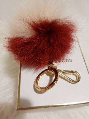 Michael Kors Porte-clés rouge carmin-beige clair pelage