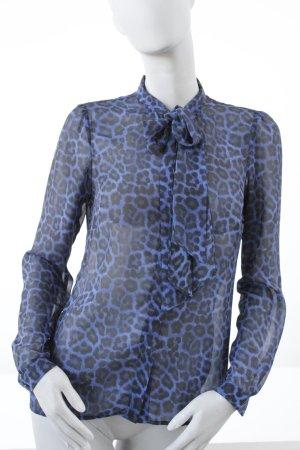 MICHAEL KORS Schlupf-Bluse mit Leoprint *schwarz-azzur*