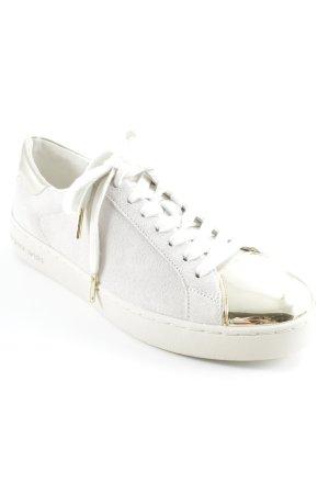 Michael Kors Sneaker stringata crema-oro stile semplice