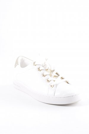 "Michael Kors Schnürsneaker ""Irving Lace Up Sneaker Optic White/Gold"""