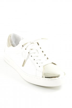 Michael Kors Lace-Up Sneaker natural white-gold-colored street-fashion look